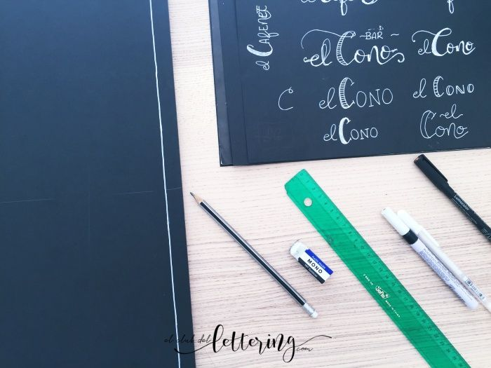 Materiales chalk lettering